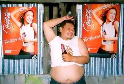 Fotos Engraçadas: Garoto-Propaganda da Coca-Cola