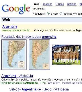 Argentina no Google