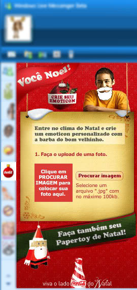 cocacola msn MSN: Crie seu Emoticon de Natal no Windows Live Messenger