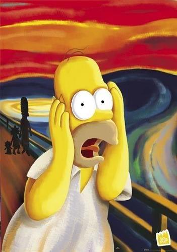 Hommer Simpson em O Grito