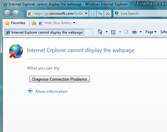 Windows 7: Internet Explorer 8