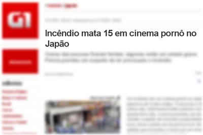 Notícias Bizarras: Cinema Pornô Pega Fogo