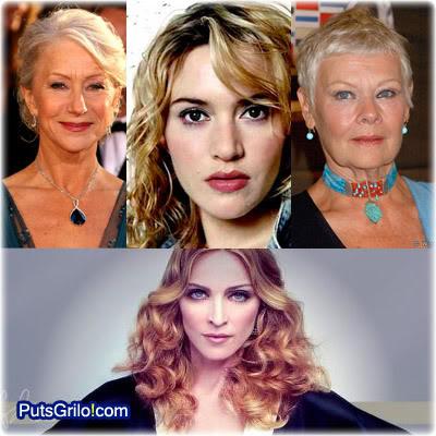 Helen Mirren, Kate Winslet, Judi Dench e Madonna