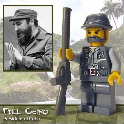Fidel Castro em versão Lego