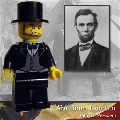Lego Celebridades: Abraham Lincoln