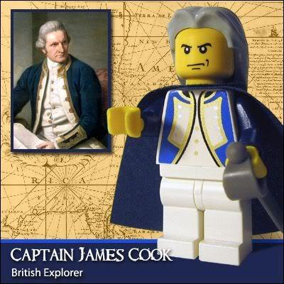 Lego Celebridades: Capitão James Cook