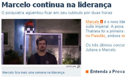 Marcelo - Líder do BBB8 - Big Brother Brasil 8