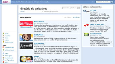 Aplicativos para Orkut