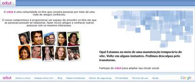 Orkut em Manutenção