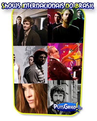 Agenda de Shows Internacionais no Brasil: Radiohead, Alanis Morissette, Orishas, James Blunt, Backstreet Boys e Iron Maiden