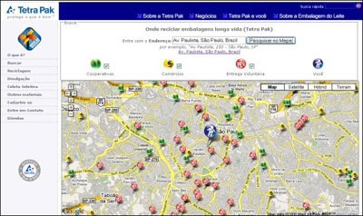 Google Mapas e Tetra Pak criam Buscador Rota da Reciclagem
