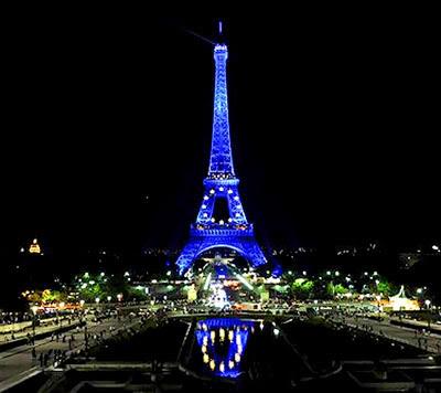 Torre Eiffel Azul