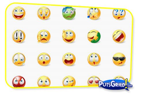 os novos emoticons para msn