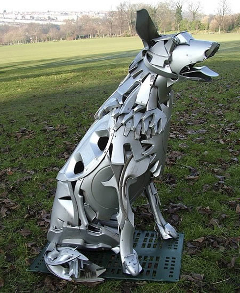 arte calota 10 Fotos: Esculturas De Calotas de Carros
