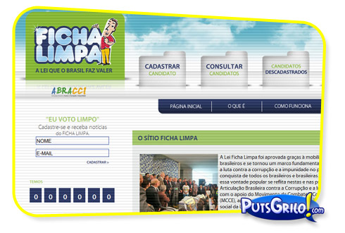 Eleições 2010: Site Ficha Limpa
