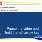 Jogo da Cobra [Snake Game] no Youtube