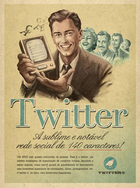 Propagandas Retrôs do Youtube, Skype, Twitter e Facebook
