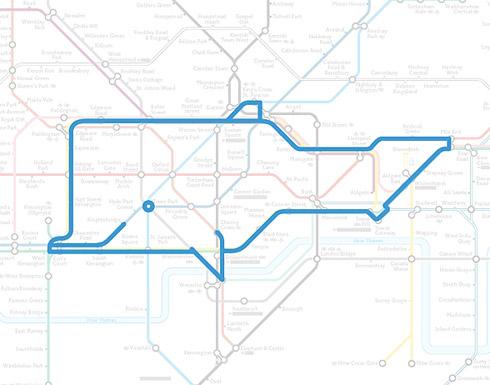 Desenhos de Animais no Metrô de Londres