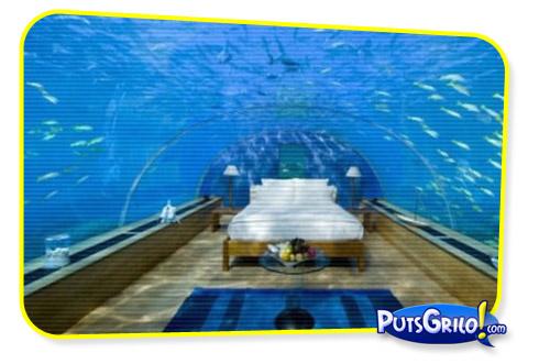 Turismo: Hotel Tem Quarto Debaixo do Oceano