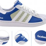 Design: Tênis Adidas com Visual Facebook