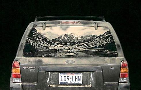 art dust 11 Arte na Poeira das Janelas dos Carros