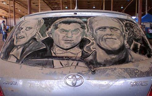 art dust 19 Arte na Poeira das Janelas dos Carros