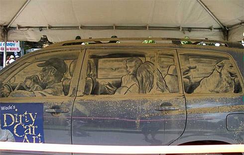 art dust 20 Arte na Poeira das Janelas dos Carros