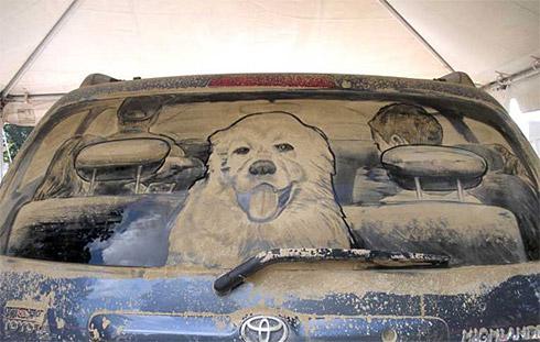 art dust 21 Arte na Poeira das Janelas dos Carros