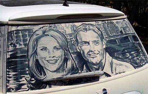 art dust 7 Arte na Poeira das Janelas dos Carros