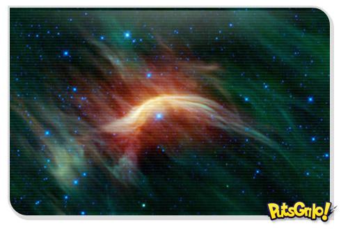 NASA Flagra Estrela em Forma de Pássaro no Espaço