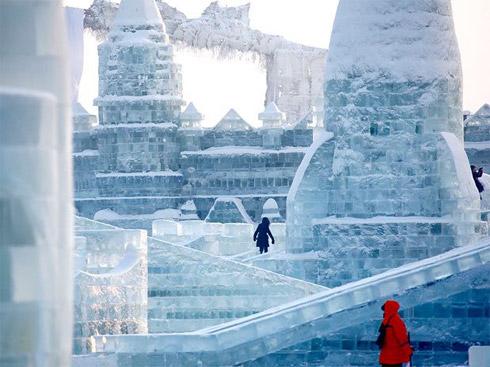 Esculturas Gigantes de Gelo Na China
