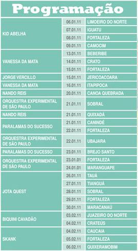 Programação Férias no Ceará