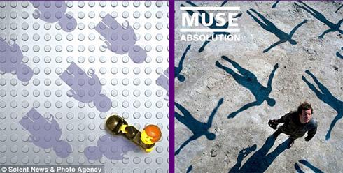 Discos famosos em forma de Lego