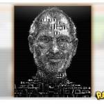 Steve Jobs ganha retrato feito de iPad e iPod