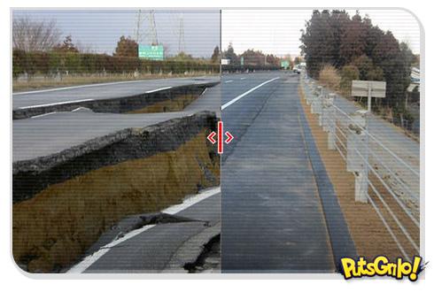 Japão refaz estrada 6 dias depois do terremoto
