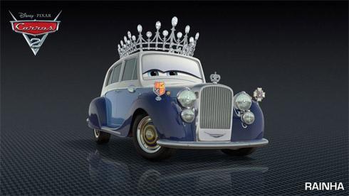 Filme Carros 2 tem personagens da Família Real da Inglaterra