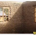 Casa ecológica feita com garrafas PET