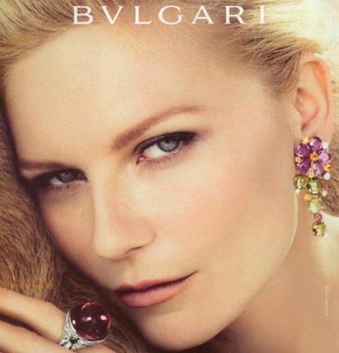 Kirsten Dunst para a nova campanha da Bulgari