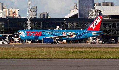 tam pinta avião de Blu o pássaro do filme rio
