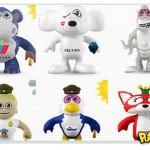 Bonecos 3D de marcas famosas