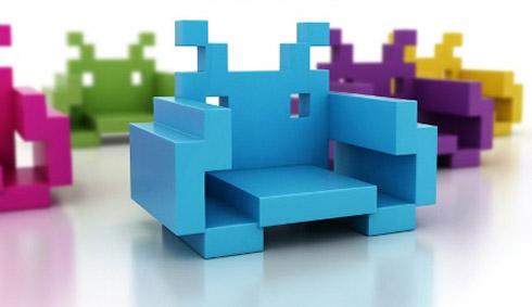 Cadeiras estilo Space Invaders
