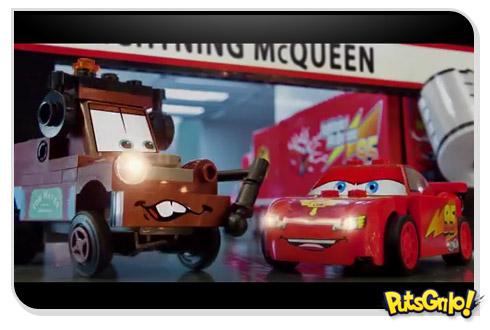 Filme Carros 2: Trailer em Lego