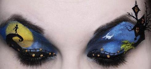 Filmes da Disney em maquiagens nas pálpebras
