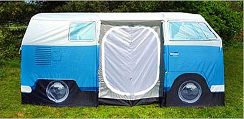 Barraca de camping em forma de Kombi