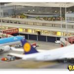 Aeroporto em miniatura na Alemanha