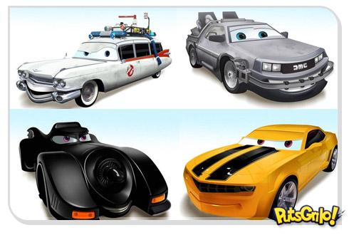 carros cinema 1 Carros famosos do cinema em versões Pixar