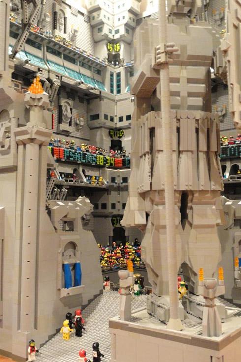 Cenário de O Senhor dos Anéis feito de LEGO