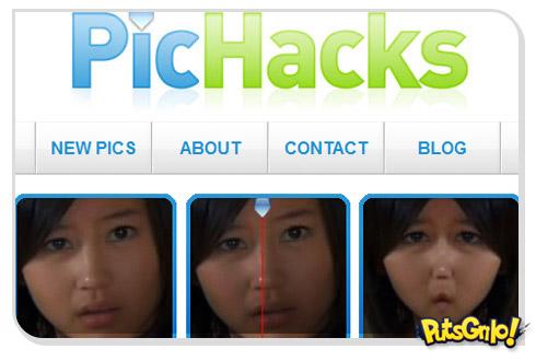 Caricaturas de fotos com o PicHacks