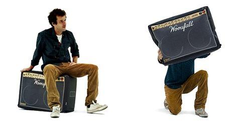 almofadas caixa de som
