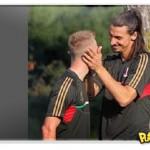 Flagra: Ibrahimovic [de novo!] e Abate